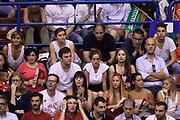 DESCRIZIONE : Campionato 2013/14 Finale Gara 7 Olimpia EA7 Emporio Armani Milano - Montepaschi Mens Sana Siena Scudetto<br /> GIOCATORE : Stefano Gentile Nando Gentile<br /> CATEGORIA : Tifosi VIP<br /> SQUADRA : Olimpia EA7 Emporio Armani Milano<br /> EVENTO : LegaBasket Serie A Beko Playoff 2013/2014<br /> GARA : Olimpia EA7 Emporio Armani Milano - Montepaschi Mens Sana Siena<br /> DATA : 27/06/2014<br /> SPORT : Pallacanestro <br /> AUTORE : Agenzia Ciamillo-Castoria /GiulioCiamillo<br /> Galleria : LegaBasket Serie A Beko Playoff 2013/2014<br /> FOTONOTIZIA : Campionato 2013/14 Finale GARA 7 Olimpia EA7 Emporio Armani Milano - Montepaschi Mens Sana Siena<br /> Predefinita :