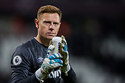 David Martin (GK) (West Ham) thanking the West Ham FC supporters following the Premier League match between West Ham United and Arsenal at the London Stadium, London, England on 9 December 2019.