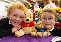 18/01/2018 James McGauley with Pooh  and Liam Ferguson with Speeder from Oughterard at the Teddy Bear Hospital at NUI Galway . Students get used to dealing with Kids and Kids get a Hospital experience with a difference. Photo:Andrew Downes, XPOSURE