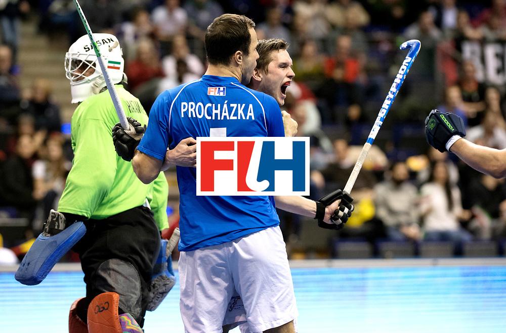 BERLIN - Indoor Hockey World Cup<br /> Quarterfinal 1: Iran - Czech Republic<br /> foto: HANUS Martin.<br /> WORLDSPORTPICS COPYRIGHT FRANK UIJLENBROEK