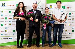 Anja Drev, Francek Gorazd Tirsek Nani and Showdown team during Slovenian Disabled Sports personality of the year 2019 event, on January 21, 2020 in Austria Trend Hotel, Ljubljana, Slovenia. Photo by Vid Ponikvar / Sportida