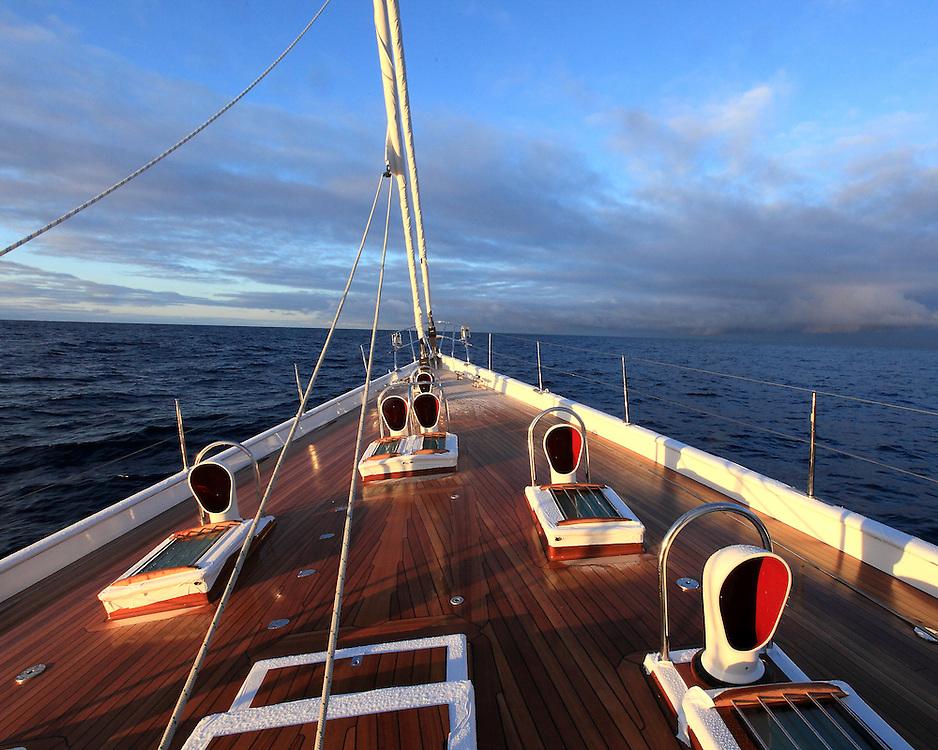 The Adre Hoek design Holland Jachtbow, Sea Dragon, sailed across the Atlantic in 2010.