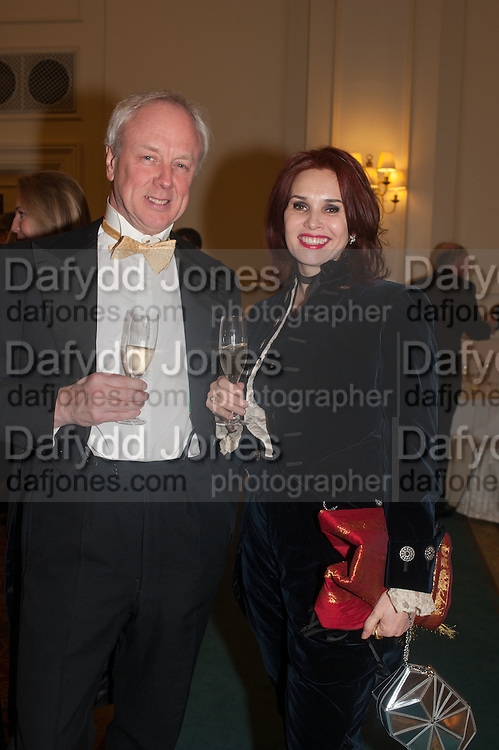LOUIS GREIG; ANNA LAMY, THE ST PETERSBURG BALL in aid of the Children's Burns Trust. Landmark Hotel. London. 2 February 2013