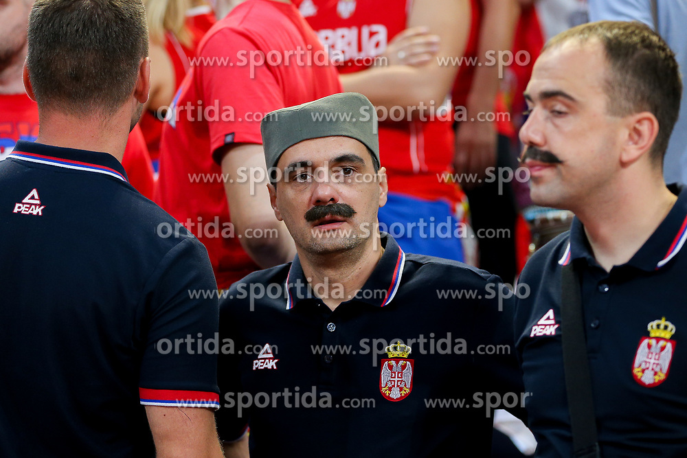 Supporters of Serbia prior to the Final basketball match between National Teams  Slovenia and Serbia at Day 18 of the FIBA EuroBasket 2017 at Sinan Erdem Dome in Istanbul, Turkey on September 17, 2017. Photo by Vid Ponikvar / Sportida