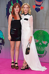 © Licensed to London News Pictures. 03/08/2016. GEORGIA MAY JAGGER and CLARA PAGET attends the Suicide Squad UK Film Premiere  London, UK. Photo credit: Ray Tang/LNP