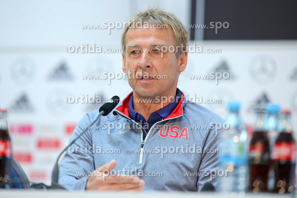 09.06.2015, Mercedes Center, Koeln, GER, FS Vorbereitung, Testspiel, Deutschland vs USA, Pressekonferenz, im Bild Juergen Klinsmann (Nationaltrainer USA) // during a press conference prior to the international friendly football match between Germany and USA Mercedes Center in Koeln, Germany on 2015/06/09. EXPA Pictures &copy; 2015, PhotoCredit: EXPA/ Eibner-Pressefoto/ Schueler<br /> <br /> *****ATTENTION - OUT of GER*****