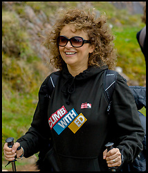 Image ©Licensed to i-Images Picture Agency. 30/05/2015. Fort William, Scotland,United Kingdom. Loose Women Stars  Nadia Sawalha climbing Ben Nevis for Climb with Ed in connection with the charity Children with Cancer. Picture by Andrew Parsons / i-Images