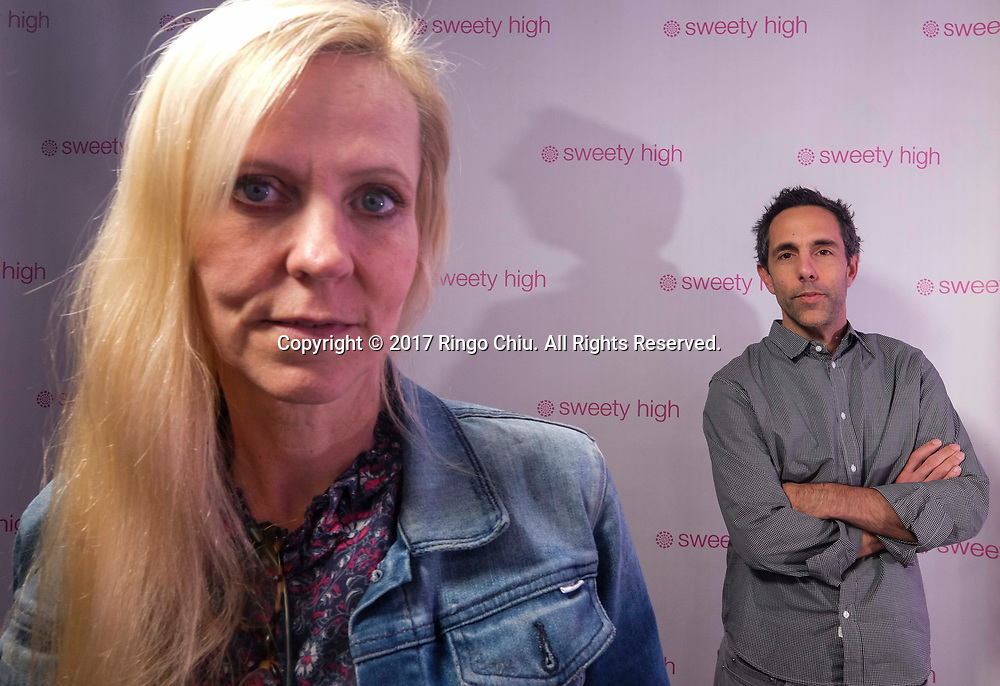 Frank Simonetti and Veronica Zelle, co-CEOs of Sweety High, a company that markets to Generation Z girls (8-18). (Photo by Ringo Chiu)<br /> <br /> Usage Notes: This content is intended for editorial use only. For other uses, additional clearances may be required.