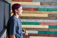 Jordan Hoffart during Street League Skate Practice at 2013 X Games Los Angeles in Los Angeles, CA. ©Brett Wilhelm/ESPN