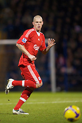 PORTSMOUTH, ENGLAND - Saturday, February 7, 2009: Liverpool's Martin Skrtel in action against Portsmouth during the Premiership match at Fratton Park. (Mandatory credit: David Rawcliffe/Propaganda)