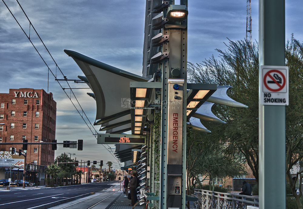 Lightrail station, Downtown Phoenix, Az