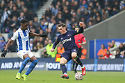 Derby County midfielder Harry Wilson (7) battles with Brighton and Hove Albion midfielder Yves Bissouma (8) during the The FA Cup 5th round match between Brighton and Hove Albion and Derby County at the American Express Community Stadium, Brighton and Hove, England on 16 February 2019.