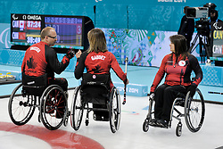 Dennis Thiessen, Sonja Gaudet, Ina Forrest, Wheelchair Curling Semi Finals at the 2014 Sochi Winter Paralympic Games, Russia