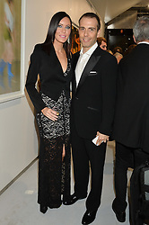 WILL & LINZI STOPPARD at a private view of Dancing Away featuring work by Mikhail Baryshnikov held at ContiniArtUK, 105 New Bond Street, London on 27th November 2014.
