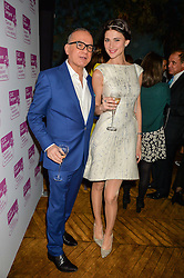 TOUKER SULEYMAN and LILIYA WATSON at an Evening of Riviera Inspired Glamour in aid of CLIC Sargentheld at Sketch, 9 Conduit Street, London on 25th January 2016.