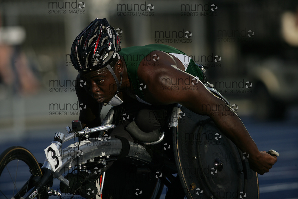 (Toronto, Ontario---25/06/09)  \Jean-Paul Compaore\ men's wheelchair 5000m final at the 2009 Canadian National Track and field Championships. Photograph copyright Sean Burges / Mundo Sport Images, 2009. www.mundosportimages.com / www.msievents.