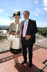 The MARQUESS & MARCHIONESS OF MILFORD-HAVEN at the 4th day of the Glorious Goodwood racing festival 2007 held at Goodwood Racecourse, West Sussex on 3rd August 2007.<br />