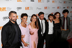 (L-R) Actor ADNAN HASKOVI, Actresses SAADET AKSOY and PENELOPE CRUZ, director SERGIO CASTELITO, Actor EMILE HIRSCH, writer MARGARET MAZZANTINI and actor PIETRO CASTELLITTO  at the at the 'Twice Born' premiere during the 2012 Toronto International Film Festival at Roy Thomson Hall, September 13th 2012.  Photo by David Tabor/ i-Images.