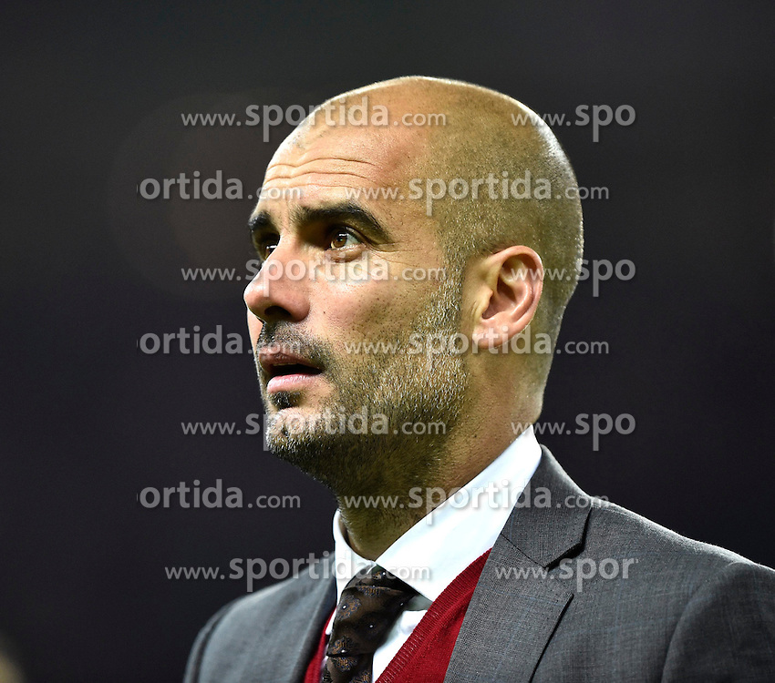 17.05.2014, Olympiastadion, Berlin, GER, DFB Pokal, Borussia Dortmund vs FC Bayern Muenchen, Finale, im Bild Trainer Josep Pep Guardiola FC Bayern Muenchen Portrait Portraet // during the mens DFB Pokal final match between Borussia Dortmund and FC Bayern Munich at the Olympiastadion in Berlin, Germany on 2014/05/17. EXPA Pictures &copy; 2014, PhotoCredit: EXPA/ Eibner-Pressefoto/ Weber<br /> <br /> *****ATTENTION - OUT of GER*****