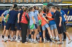Team at practice of Slovenian Handball Women National Team, on June 3, 2009, in Arena Kodeljevo, Ljubljana, Slovenia. (Photo by Vid Ponikvar / Sportida)