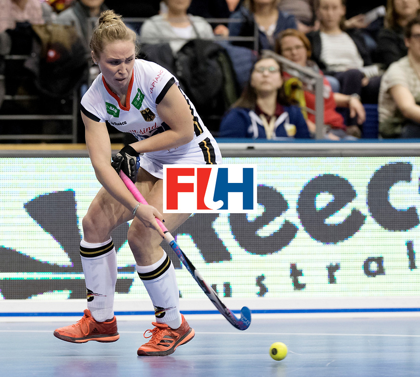 BERLIN - Indoor Hockey World Cup<br /> Semi-final: Belarus - Germany<br /> foto: Nike Lorenz.<br /> WORLDSPORTPICS COPYRIGHT FRANK UIJLENBROEK