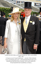 LORD & LADY BELL at Royal Ascot on 18th June 2002.	PBC 198