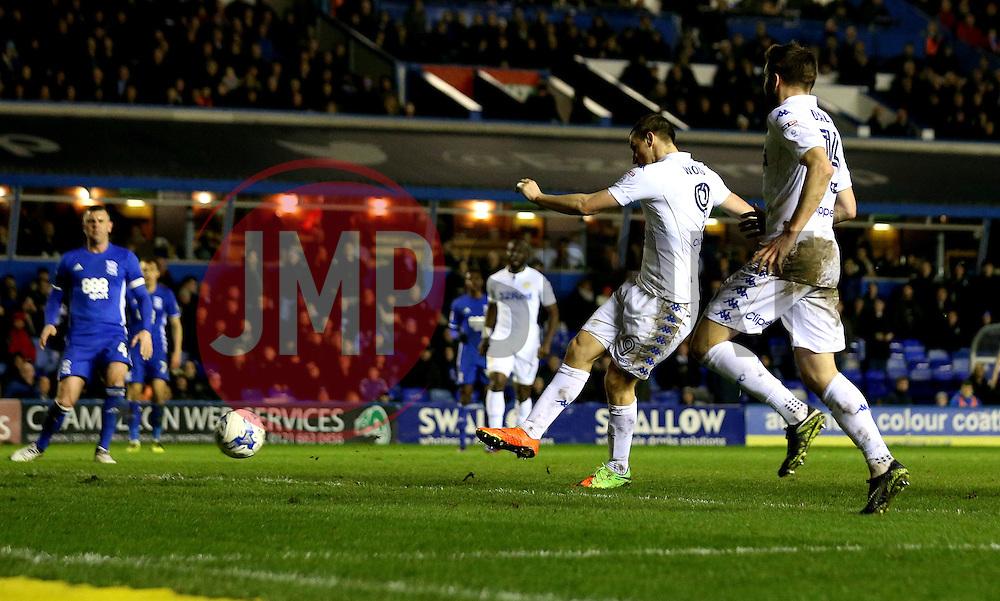 Chris Wood of Leeds United scores a goal to make it 2-1 - Mandatory by-line: Robbie Stephenson/JMP - 03/03/2017 - FOOTBALL - St Andrew's Stadium - Birmingham, England - Birmingham City v Leeds United - Sky Bet Championship