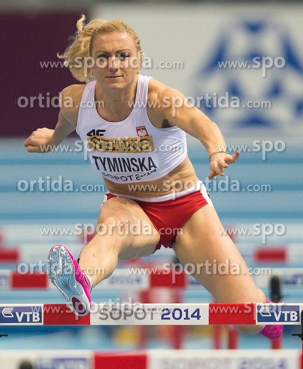 07.03.2014, Ergo Arena, Sopot, POL, IAAF, Leichtathletik Indoor WM, Sopot 2014, Tag 1, im Bild KAROLINA TYMINSKA // KAROLINA TYMINSKA during day one of IAAF World Indoor Championships Sopot 2014 at the Ergo Arena in Sopot, Poland on 2014/03/07. EXPA Pictures © 2014, PhotoCredit: EXPA/ Newspix/ Marek Biczyk<br /> <br /> *****ATTENTION - for AUT, SLO, CRO, SRB, BIH, MAZ, TUR, SUI, SWE only*****