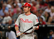 Phillies second baseman Chase Utley during the game between the Atlanta Braves and the Philadelphia Phillies at Turner Field in Atlanta, GA on April 30, 2007..