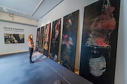 The 'Decoration' Room - Peter Kennard: Unofficial War Artist - Retrospective Exhibition of British Political and anti-war artist at IWM London, UK 12 May 2015