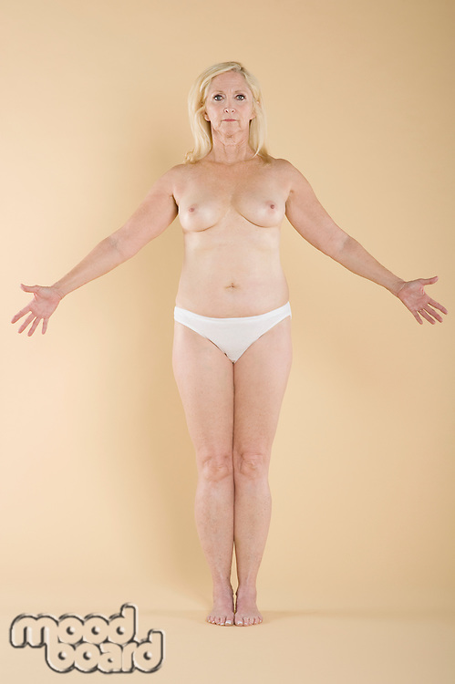Woman exposing her breasts