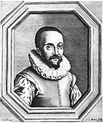 Hans Lippershey (d1619) Dutch optician credited with discovery of the telescope. Engraving after portrait by Handik Berkmans from Pierre Borel 'De Vero Telescopic Inventore' 1655.