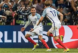 11-06-2016 FRA: UEFA EURO Engeland - Rusland, Marseille<br /> Engeland speelt gelijk tegen Rusland 1-1 / Goal Celebration England Eric Dier (ENG) Dele Alli (ENG)<br /> <br /> ***NETHERLANDS ONLY***