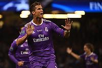 02.06.2017 - Cardiff - Finale di Champions League -  Juventus-Real Madrid nella  foto: Cristiano Ronaldo esulta dopo il gol