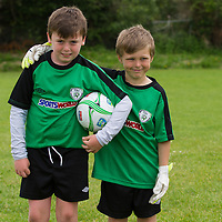 Patrick Keane from Ballyea and Ryan Carrol from Ennis at the Avenue Utd Summer Soccer Camp