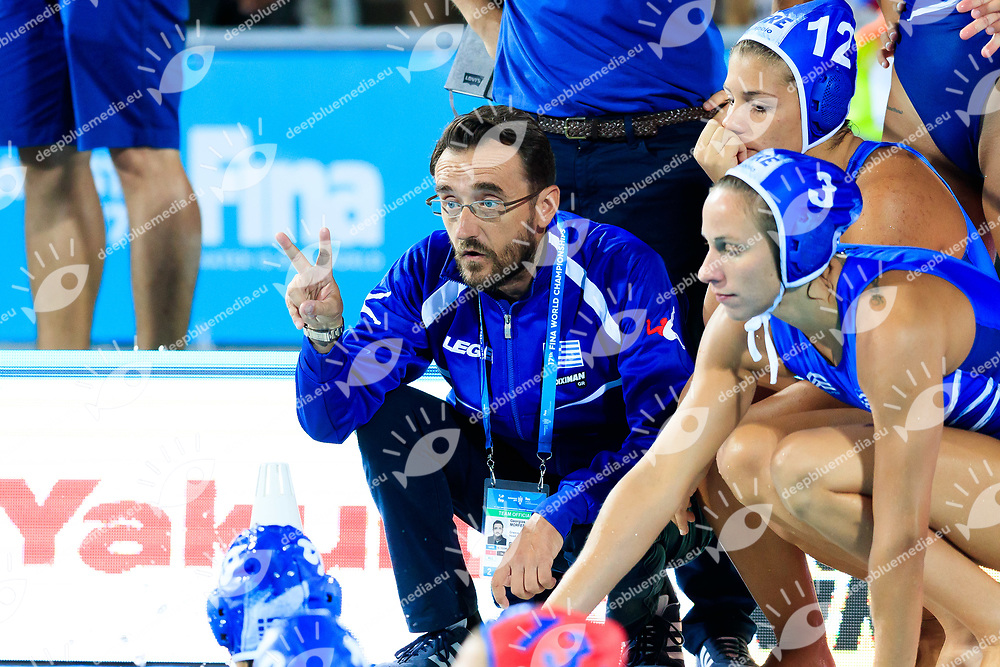 16-07-2017: Waterpolo: Australie  v Kazachstan: Boedapest<br /> <br /> (L-R)  during the waterpolomatch between women Australia and Kazachstan during the 17th FINA World Championships 2017 in Budapest, Hungary<br /> <br /> Photo / Foto: Gertjan Kooij Photo @Marcelterbals/Deepbluemedia/Insidefoto