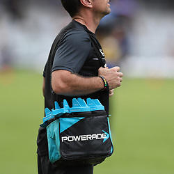 Johan Pretorius Head Strength & Conditioning Coach of the Cell C Sharks during the Super Rugby match between the Cell C Sharks and the Western Force at Growthpoint Kings Park on May 06, 2017 in Durban, South Africa. (Photo by Steve Haag)