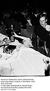 Henrietta Thompson's hand. Falklands Ball. Grosvenor House. London. 2 November 1982. Film. 82816f8<br /> &copy; Copyright Photograph by Dafydd Jones. 66 Stockwell Park Rd. London SW9 0DA. Tel 0171 733 0108