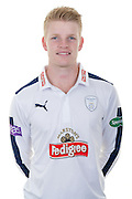 Hampshire right-arm off spinner Brad Taylor in the 2016 Specsavers County Championship Shirt. Hampshire CCC Headshots 2016 at the Ageas Bowl, Southampton, United Kingdom on 7 April 2016. Photo by David Vokes.