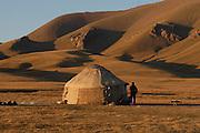 A yurt near Song-Kul' lake