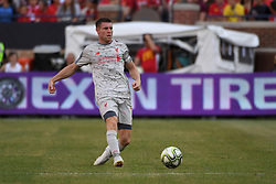 July 28, 2018 - Ann Arbor, MI, U.S. - ANN ARBOR, MI - JULY 28: Liverpool Midfielder James Milner (7) in action during the ICC soccer match between Manchester United FC and Liverpool FC on July 28, 2018 at Michigan Stadium in Ann Arbor, MI (Photo by Allan Dranberg/Icon Sportswire) (Credit Image: © Allan Dranberg/Icon SMI via ZUMA Press)