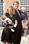 Prinses Leonore dochter , de jongste dochter van Prins Constantijn en  Prinses Laurentien is zondagochtend 8 oktober 2006 in  de kapel van Paleis Het Loo  in Apeldoorn gedoopt. / Princes Leonore, the jongest daughter of Prince Constantijn en Princes Laurentien, is baptist in Palace Het Loo in Apeldoorn.<br />