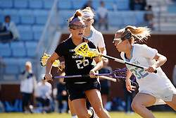 CHAPEL HILL, NC - MARCH 02: Emily Stein #20 of the Northwestern Wildcats during a game against the North Carolina Tar Heels on March 02, 2019 at the UNC Lacrosse and Soccer Stadium in Chapel Hill, North Carolina. North Carolina won 11-21. (Photo by Peyton Williams/US Lacrosse)