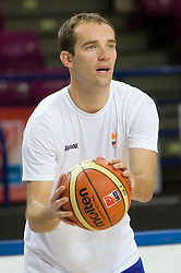 Samo Udrih  at practice of Slovenian National Basketball team in Arena Torwar two days before the beginning of the Eurobasket 2009, on September 05, 2009 in Warsaw, Poland. (Photo by Vid Ponikvar / Sportida)