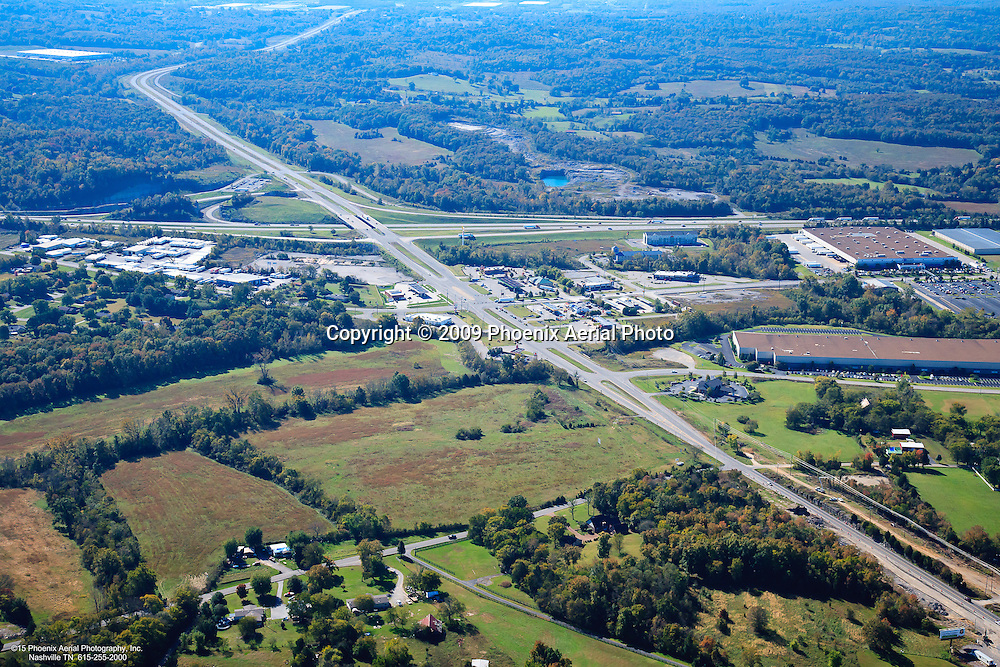 Aerial photo of the Eastgate Business Park off of Interstate 40 in Lebanon Tennessee.