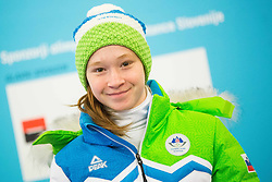 Nina Polsak during presentation of Slovenian Young Athletes before departure to EYOF (European Youth Olympic Festival) in Vorarlberg and Liechtenstein, on January 21, 2015 in Bled, Slovenia. Photo by Vid Ponikvar / Sportida