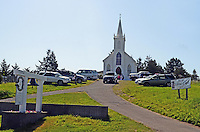Roman Catholic church of St Teresa of Avila, Bodega, Sonoma County, California, USA, where some of the location scenes were shot in Alfred Hitchcock's movie, The Birds. 201304291993<br /> <br /> Copyright Image from Victor Patterson, 54 Dorchester Park, Belfast, UK, BT9 6RJ<br /> <br /> t: +44 28 90661296<br /> m: +44 7802 353836<br /> vm: +44 20 88167153<br /> e1: victorpatterson@me.com<br /> e2: victorpatterson@gmail.com<br /> <br /> For my Terms and Conditions of Use go to www.victorpatterson.com