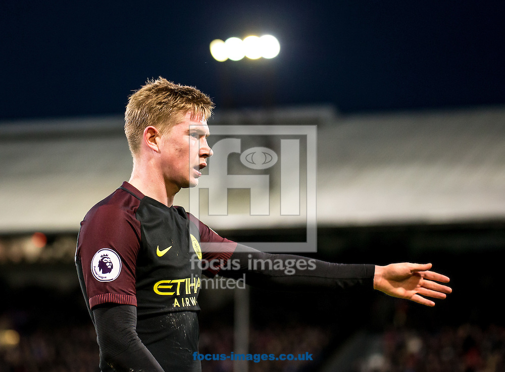 Kevin De Bruyne of Manchester City during the Premier League match at Selhurst Park, London<br /> Picture by Liam McAvoy/Focus Images Ltd 07413 543156<br /> 19/11/2016
