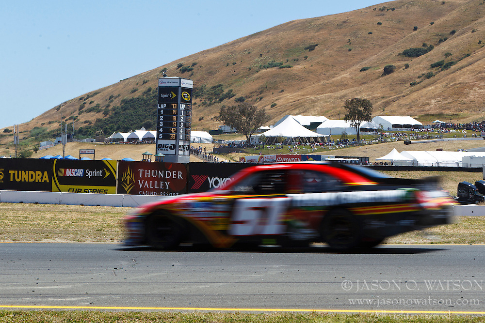 June 26, 2011; Sonoma, CA, USA;  NASCAR Sprint Cup Series driver Boris Said (51) in turn 8 during the Toyota/Save Mart 350 at Infineon Raceway.