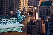 New York. building with gargoyls s  on fifth avenue / building avec gargouilles  New York - Etats unis